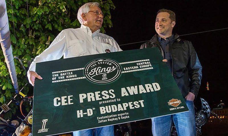 A magyar Harley-Davidson szakmai első hely Prágában