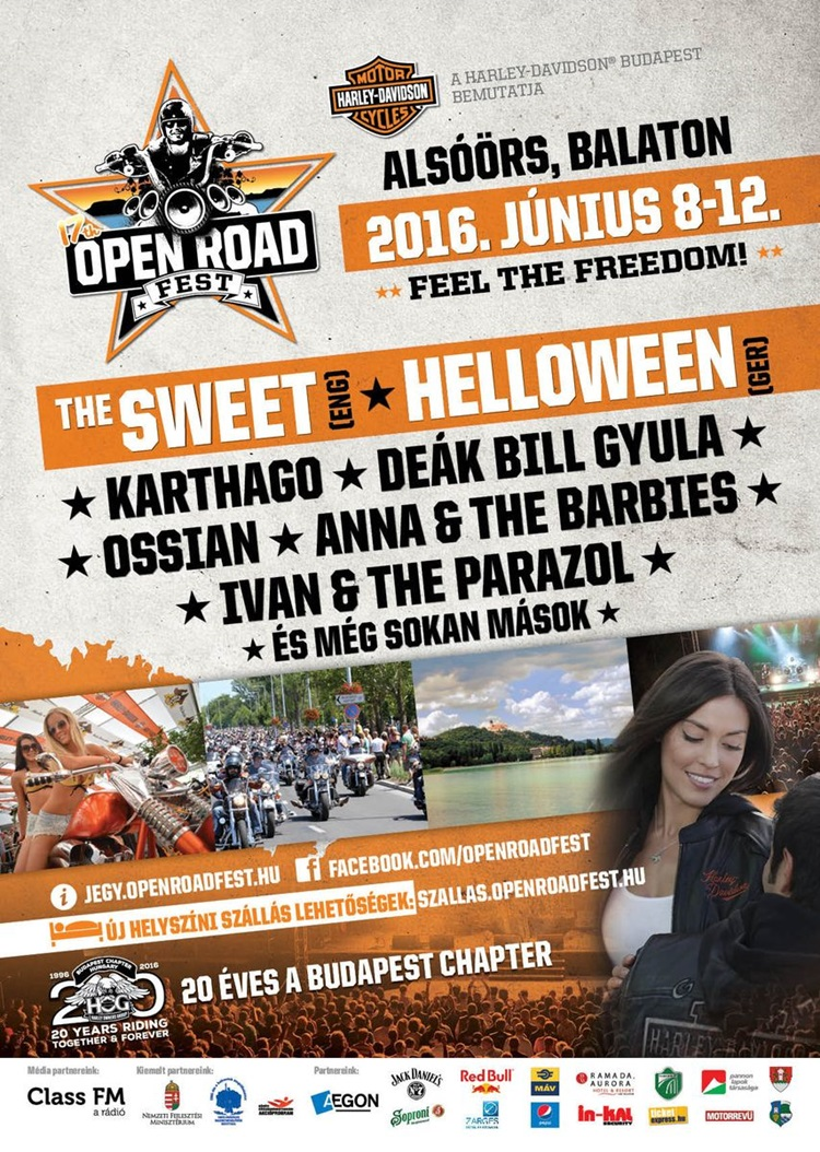 17Open Road Fest plakát