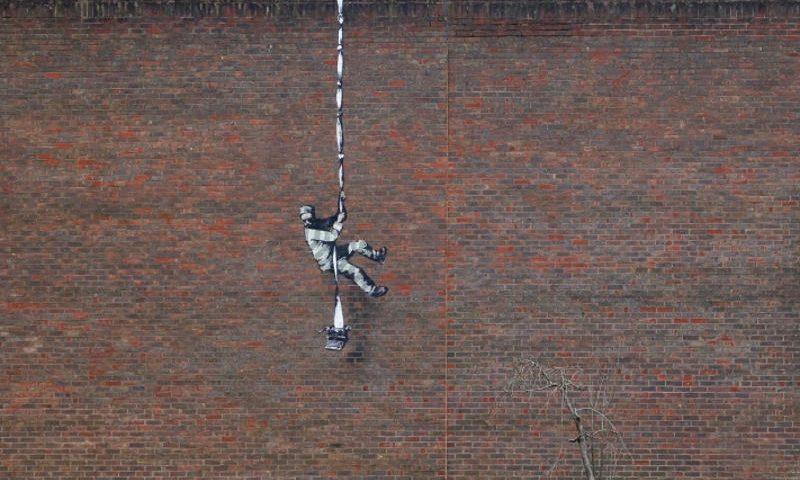 Banksy graffiti Reading fegyház